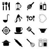 Cuisine et icônes de cuisson vecteur prêt d'image d'illustrations de téléchargement Photographie stock
