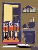 Cuisine et maison de réception Photographie stock