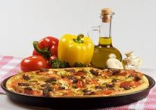Cuisine et pizza italiennes Photographie stock libre de droits