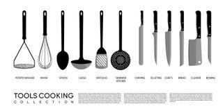 Cuisine faisant cuire la trousse d'outils Photographie stock