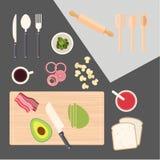 Cuisine faisant cuire, table de cuisine Photo stock