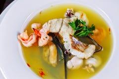 cuisine.farm式海鲜的杂烩.country 免版税库存照片