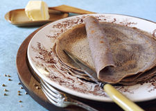 Cuisine French regions: breton buckwheat crepes Royalty Free Stock Photo
