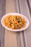 Cuisine - Fried Rice with Vegetables and Meat Stock Images