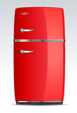 Cuisine - glacière, réfrigérateur, réfrigérateur Photo stock