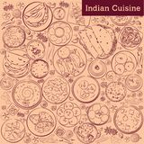Cuisine indienne E illustration stock