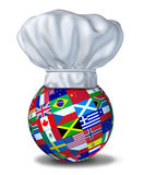 Cuisine internationale Photographie stock