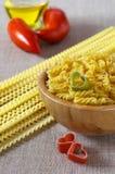 Cuisine internationale : amour pour des pâtes Photos stock