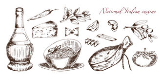 Cuisine italienne nationale Photos libres de droits