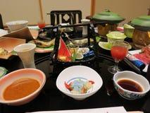 Cuisine japonaise de Kaiseki Photographie stock