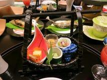 Cuisine japonaise de Kaiseki Photo libre de droits