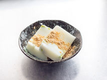 Cuisine japonaise, gelée d'agar de lait d'Avocade photo libre de droits