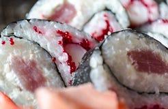 Cuisine japonaise - sushi Image stock