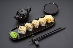 Cuisine japonaise Sushi Photographie stock libre de droits
