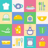 Cuisine and kitchen icons set Royalty Free Stock Image