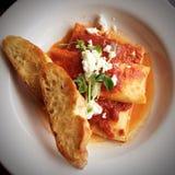 Cuisine merveilleuse de ravioli image stock