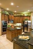 Cuisine moderne dans la maison à extrémité élevé Photo stock