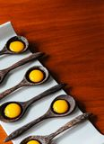 Cuisine moderne de créativité moléculaire de gastronomie, dessert de gelée dedans photo stock