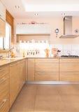 Cuisine neuve dans une maison moderne Photo libre de droits