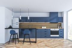 Cuisine panoramique bleue illustration stock