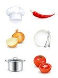 Cuisine, positionnement de graphisme Photo stock