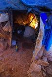 Cuisine primitive nomade photographie stock