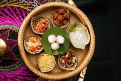 Cuisine royale thaïe servie avec du riz de jasmin Photographie stock