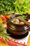 Cuisine russe traditionnelle Photo stock
