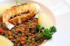 Cuisine saumonée saine image stock