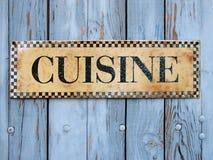 Cuisine sign stock photos