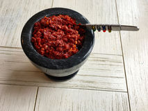 Cuisine sri-lankaise - Lunumiris Photographie stock libre de droits