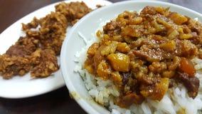 Cuisine taiwanaise de riz braisé de porc photo libre de droits