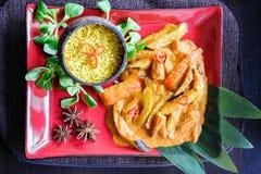 Cuisine thaïlandaise, mélange végétal traditionnel Image libre de droits