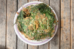 Cuisine thaïlandaise ; omelette de cha-OM Photo libre de droits