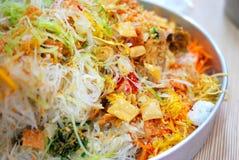 Cuisine traditionnelle chinoise d'an neuf Images libres de droits