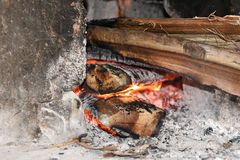 Cuisine traditionnelle dans l'Inde Photographie stock
