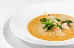 Cuisine traditionnelle de nourriture du thailandais de soupe à Tom Yum avec l'ingrédient photo stock