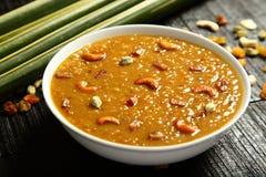Cuisine- van Kerala Heerlijke payasam stock foto's