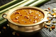 Cuisine- van Kerala Heerlijke payasam of kheer stock fotografie