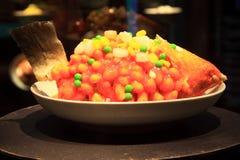Cuisines de Hangzhou, saumons d'écureuil photo stock
