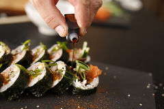 Cuisines of the world, Japanese sushi Royalty Free Stock Photo