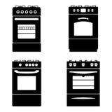 Cuisinière à gaz Photo stock