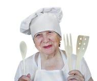 Cuisinière aînée de femme Image libre de droits