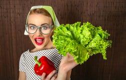 Cuisinière de femme Image libre de droits
