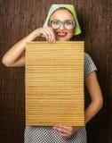 Cuisinière drôle de femme Image libre de droits