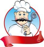 Cuisinier avec la cuillère illustration stock