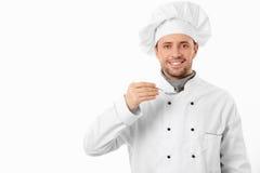 Cuisinier avec la cuillère Photo libre de droits