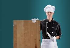 Cuisinier avec le CONSEIL rendu 3d De haute résolution Images libres de droits