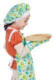 Cuisinier avec le geste de surprise Photo stock