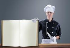 Cuisinier avec le LIVRE rendu 3D et photo De haute résolution Image stock